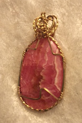 Gold Filigree Wrapped Ruby Necklace